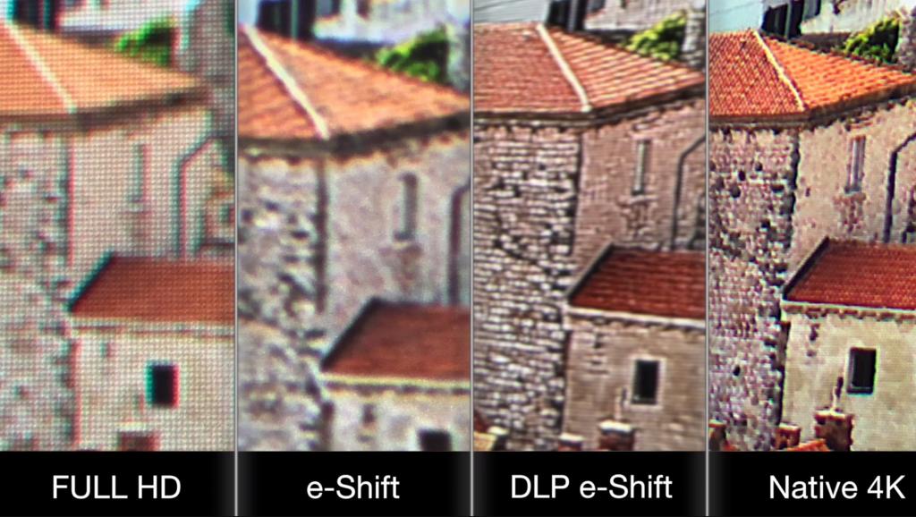 Разница между DLP e-shift и 4K