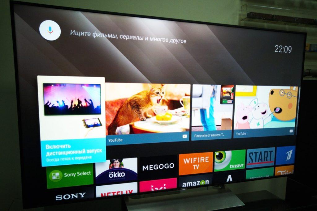 Телевизор 4К Sony диагональю 55 дюймов