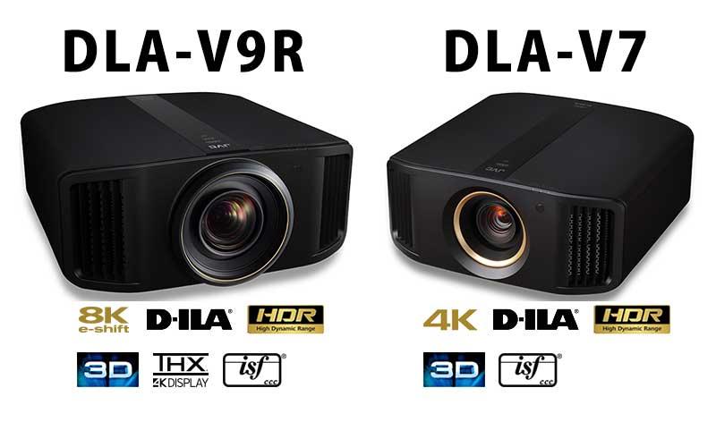 Видеопроекторы JVC DLA-V7 и DLA-V9R