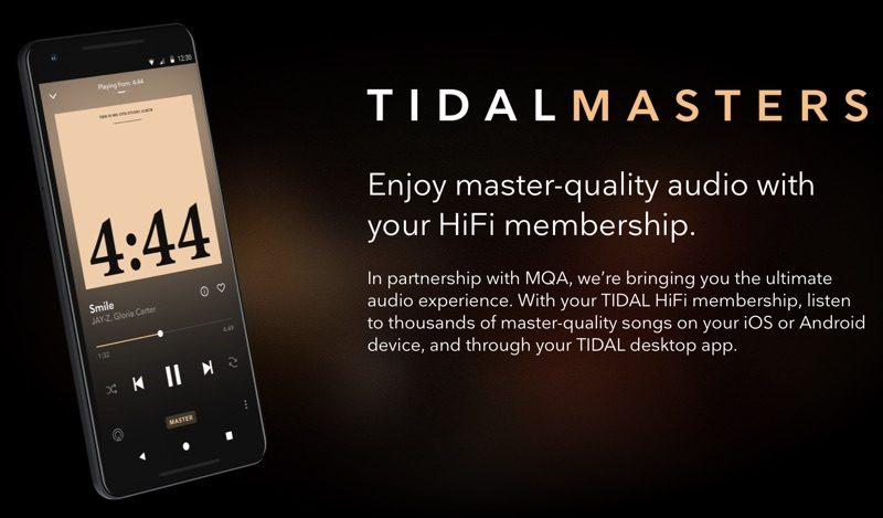 Tidal Masters Android iOS
