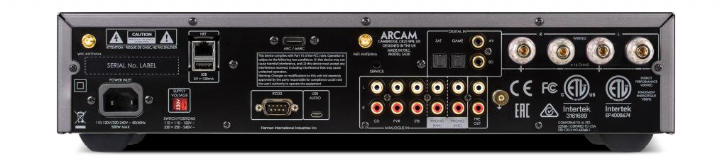 Arcam SA30 -Интегрированный стерео усилитель - задняя панель