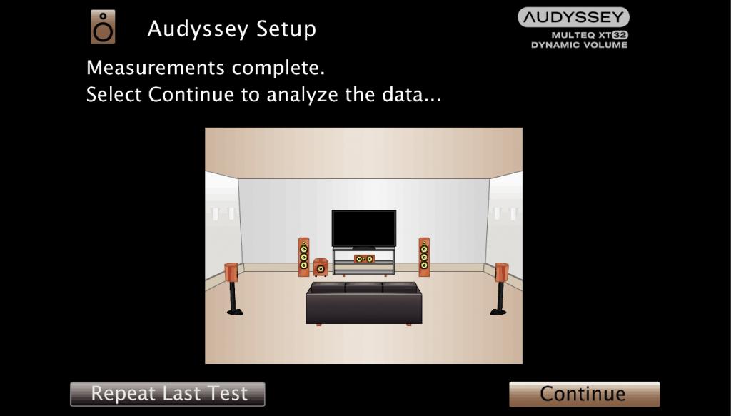 Графический интерфейс  Audyssey MultEQ XT32