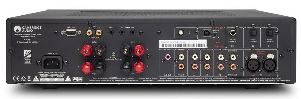 Интегрированный усилитель Cambridge Audio CXA81 - задняя панель