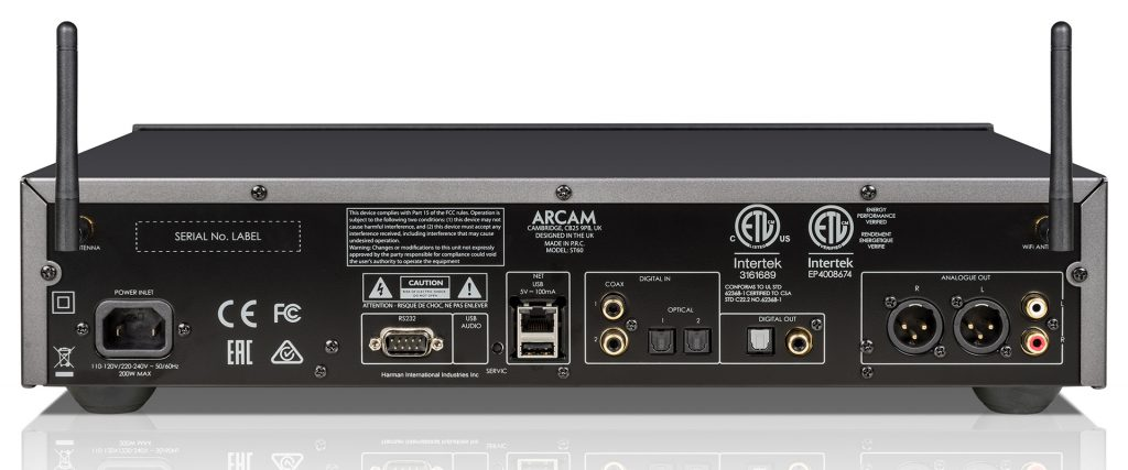 Arcam ST60 - задняя панель - Домашние кинотеатры под ключ, стерео системы - АудиоПик
