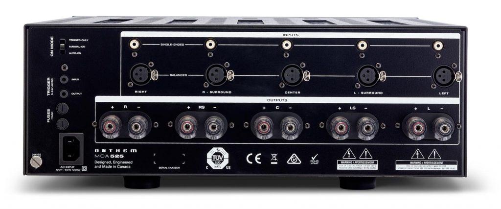 Anthem MCA 525 Gen2 - усилитель мощности - задняя панель