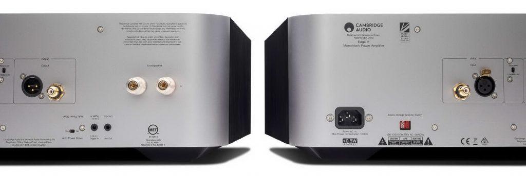 Cambridge Audio Edge M - моно усилитель мощности - задняя панель - АудиоПик - домашние кинотеатры и стерео под ключ