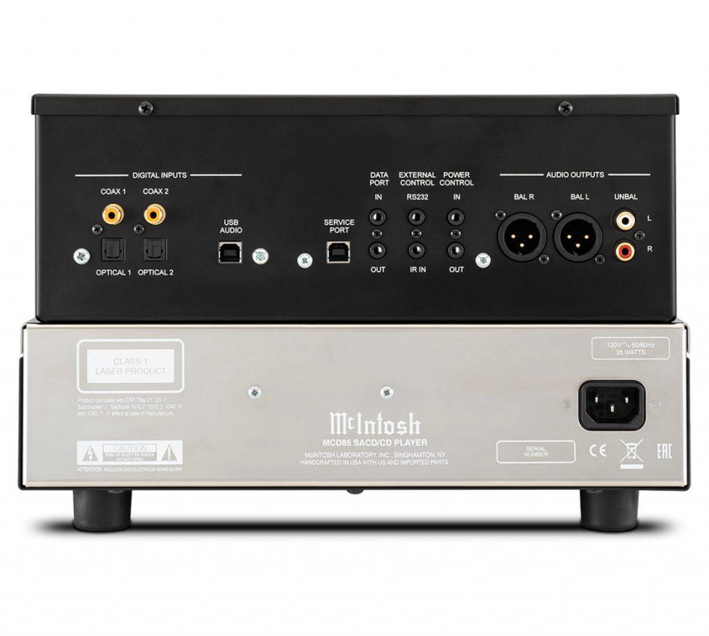 McIntosh MCD85 - проигрыватель SACD/CD со встроенным ЦАП (задняя панель)