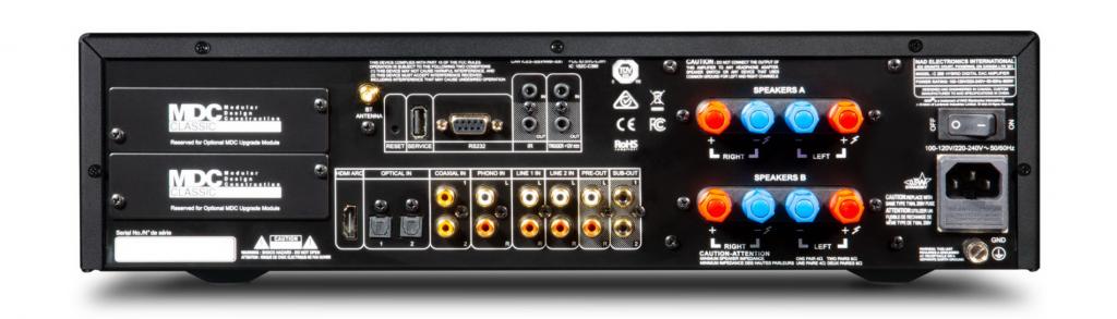 NAD C399 - интегрированный стерео усилитель с BluOS - задняя панель